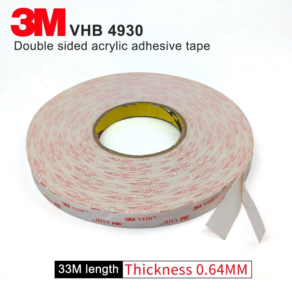 3 М VHB 4930 двусторонняя клейкая лента из акрила/водонепроницаемая лента 15 мм* 33 см