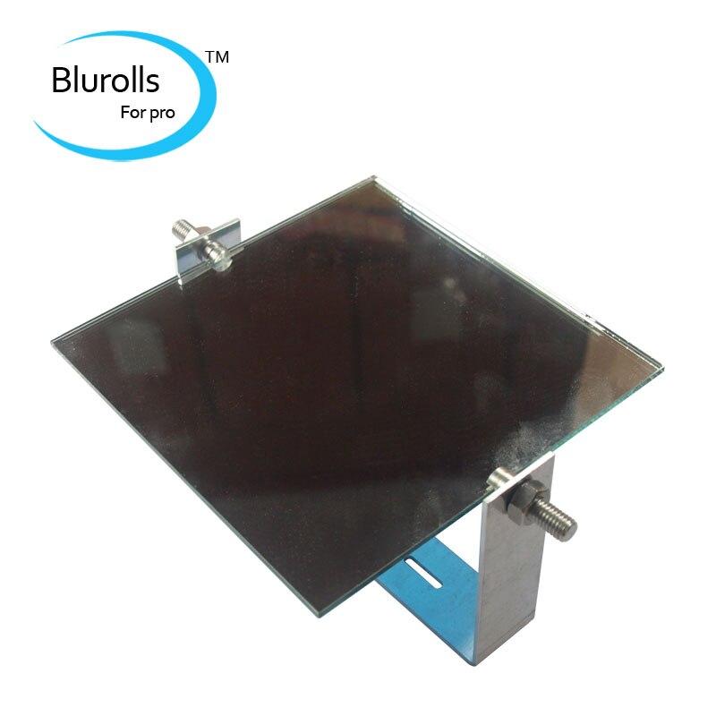 DIY high resolution DLP 3D printer 150*150*3 mm reflective mirror,mirror cradle,fixing nuts kit DLP mirror holder цена