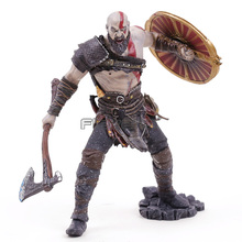 Hot Classic Game God of War Series 4 Kratos Battle Axe Shield PVC Figure Collectible Model Toy