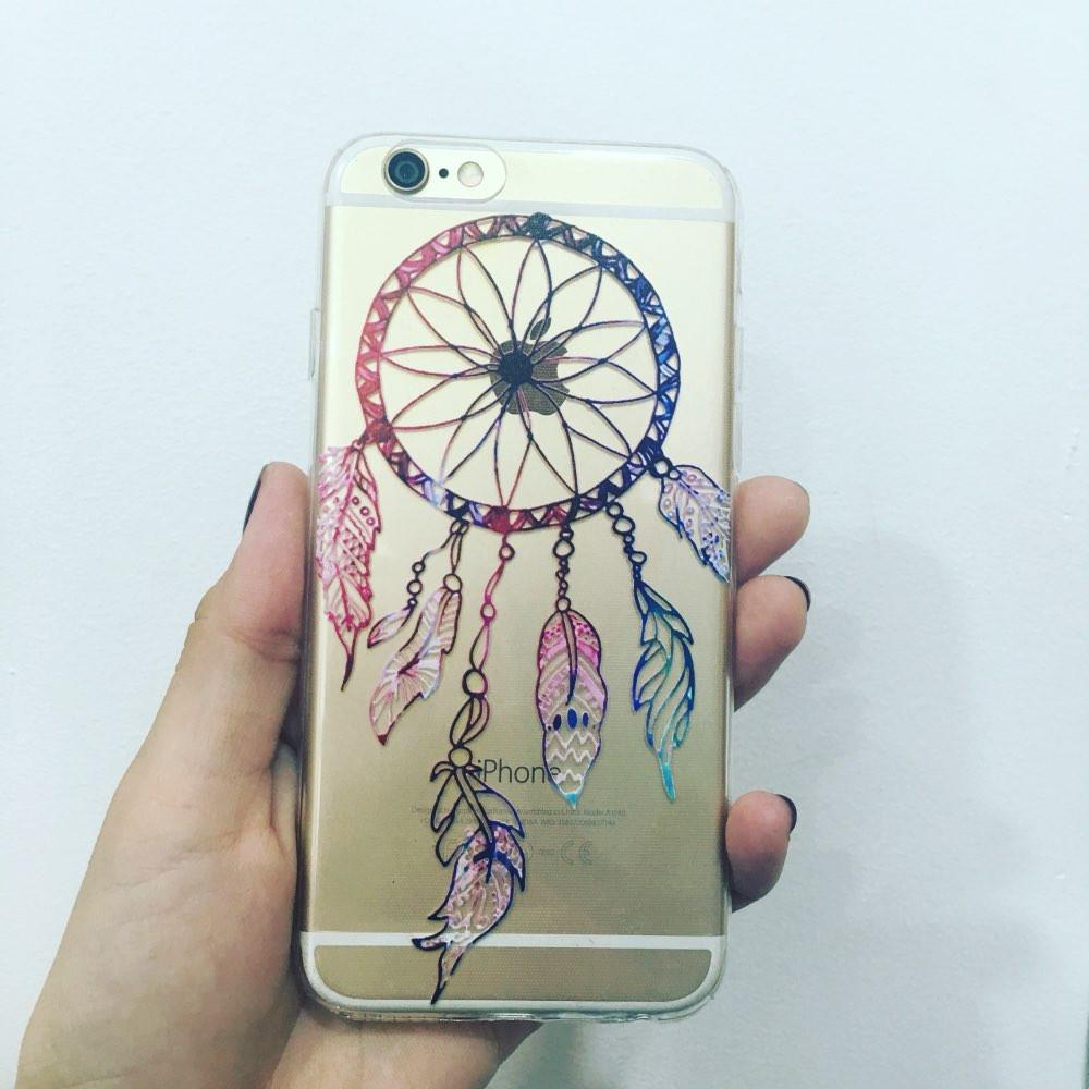 Floral-Paisley-Phone-Case-For-iPhone-5-5S-SE-6-6S-6Plus-6Splus-Soft-Silicon-transparent
