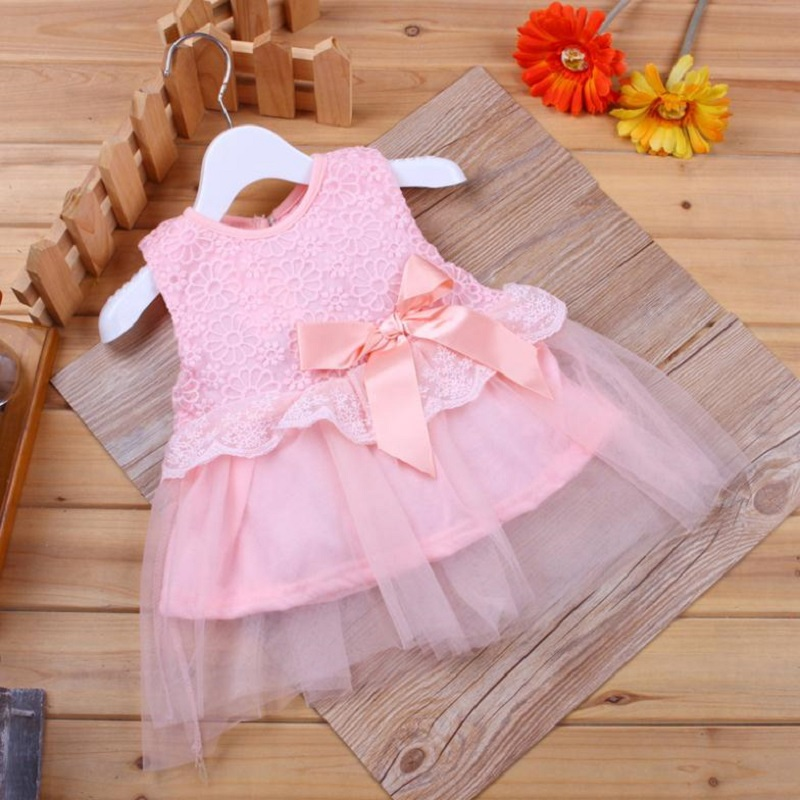 Cute Baby Dresses Girl Princess Wedding Party Dress Toddler Infant Girls Lace Flower Sleeveless Dress Baby Clothes Summer
