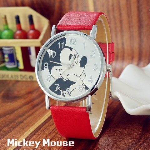 Reloj infantil Children Watch Women Fashion Casual Girls Boys Students Clock Mickey kids Watches Leather Quartz Wristwatches Multan
