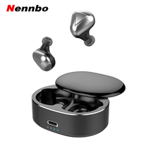 Nennbo T50 TWS Wireless Bluetooth 5.0 Headphone HD Mic Handsfree Earphones 360 Rotating Cover Stereo Sports Headset For phone
