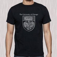 Chicago Famous College University Logo Mens Black T Shirt Short Sleeve Cotton