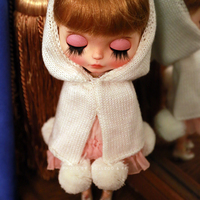 Suits of little red cloak with crown handmade doll clothes for Blyth Pullip Dal doll accessories