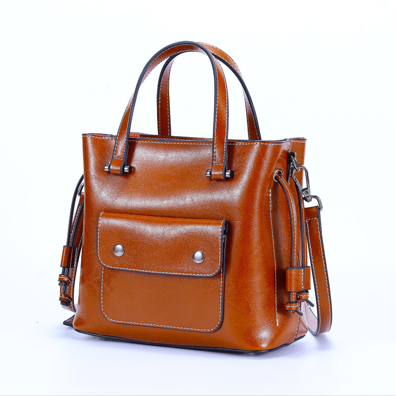 Brand Women Genuine Leather Shoulder Bags Causal Vintage Soft Cowhide Skin Handbag Shopping Bucket Liner Bag High Quality C1016Brand Women Genuine Leather Shoulder Bags Causal Vintage Soft Cowhide Skin Handbag Shopping Bucket Liner Bag High Quality C1016