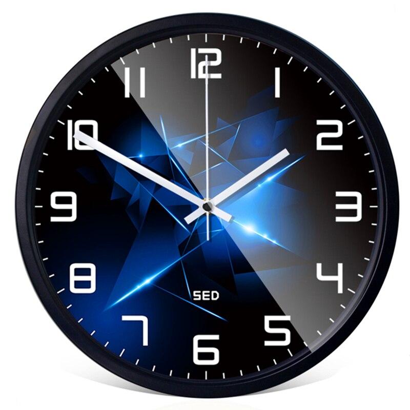 화려한 다이아몬드 시계 북유럽 스타일 하이 엔드 사용자 정의 침실 거실 장식 금속 벽시계 및 시계-에서벽결이 시계부터 홈 & 가든 의  그룹 1