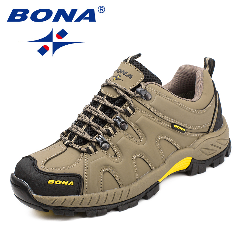 BONA New Arrival Classics Style Men Hiking Shoes Lace Up Men Sport Shoes Outdoor Jogging Trekking Sneakers Fast Free Shipping 2