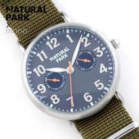 NATURAL PARK Mens Watches Top Brand Luxury Men's Quartz Watch Waterproof Sport Military Watches Men Nylon relogio masculino