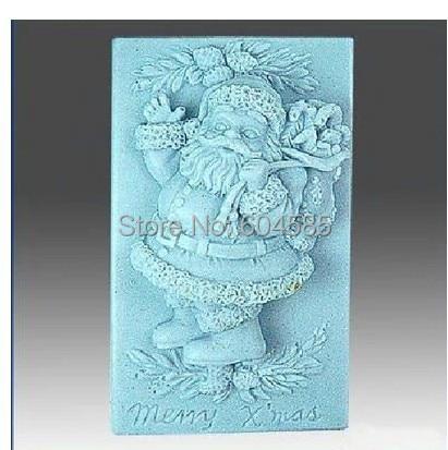 Рождество Санта Клаус 0837 Ремесло Искусство Силиконовые формы мыла Ремесло формы DIY мыло ручной работы формы