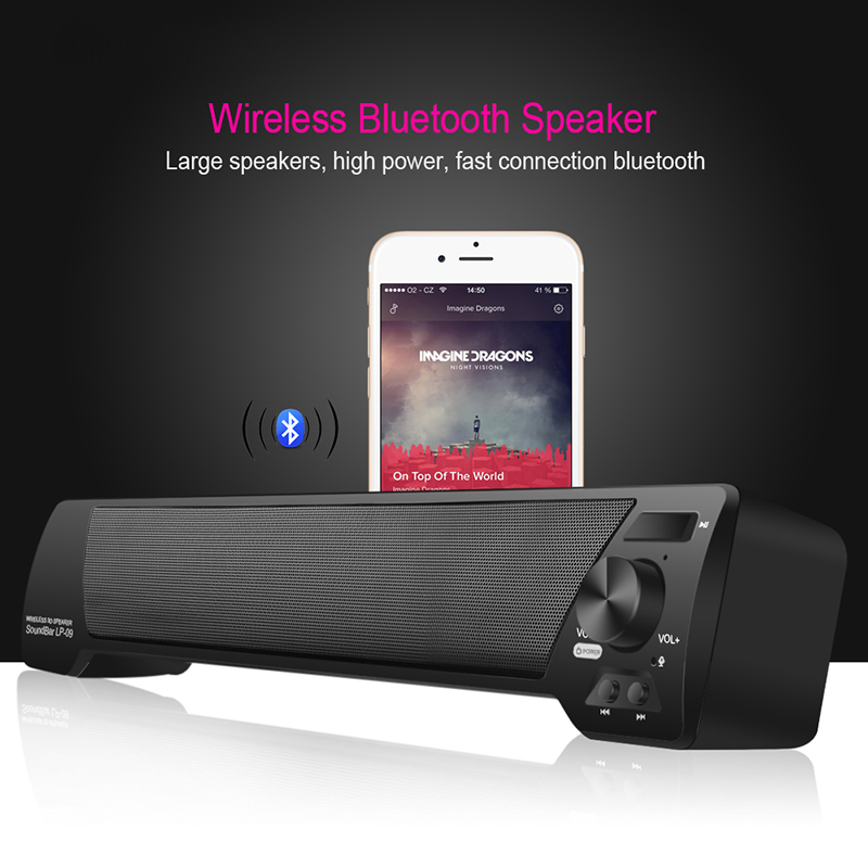 Bluetooth Lautsprecher Drahtlose 3D Soundbar mit Mic Hnadsfree HIFI Box Subwoofer Lautsprecher Boombox Stereo Tragbare Lautsprecher