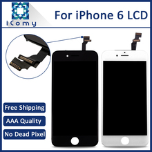 10PCS/LOT Top Quality White & Black LCD Display Touch Digitizer Screen Assembly Replacement For iPhone 6 4.7 inch