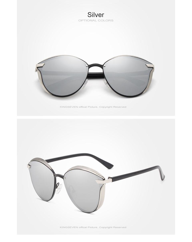 KINGSEVEN Brand Design Cat Eye Sunglasses Women polarized Luxury Alloy Frame+TR90 Sun Glasses Fashion Retro Oculos De Sol Gafas