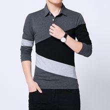 Striped Design New 2019 Men s Brand Polo Shirt Long Sleeves Fashion Spring Autumn Clothes Plus Asian Size M-3XL 4XL 5XL