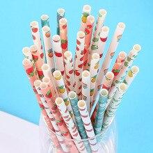 25 шт одноразовые бумажные соломинки сок питьевой 197 мм безопасный для дома Свадебная вечеринка HFing