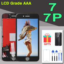 1PCS LCD For Apple iPhone 7 7 Plus 7G 7P LCD Display 3D Touch Screen Assembly Replacement Front Panel Phone Parts Free shipping new lcd display matrix for 7 digma hit 4g ht7074ml tablet 30pins lcd screen panel lens frame replacement free shipping