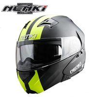 Nenki Brand Double Sun Visor Full Face Motorcycle Helmet Motorbike Flip Up Helmets Riding Casque Motor