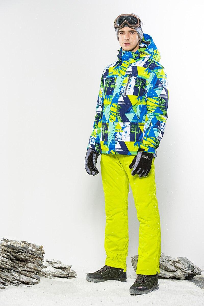 Winter Suit Ski Suit Men Snowboard Suit Male Winter Skiing Suit Snowboarding Suits Thicken Snow Suit Sport Suit Ski Jacket Pants