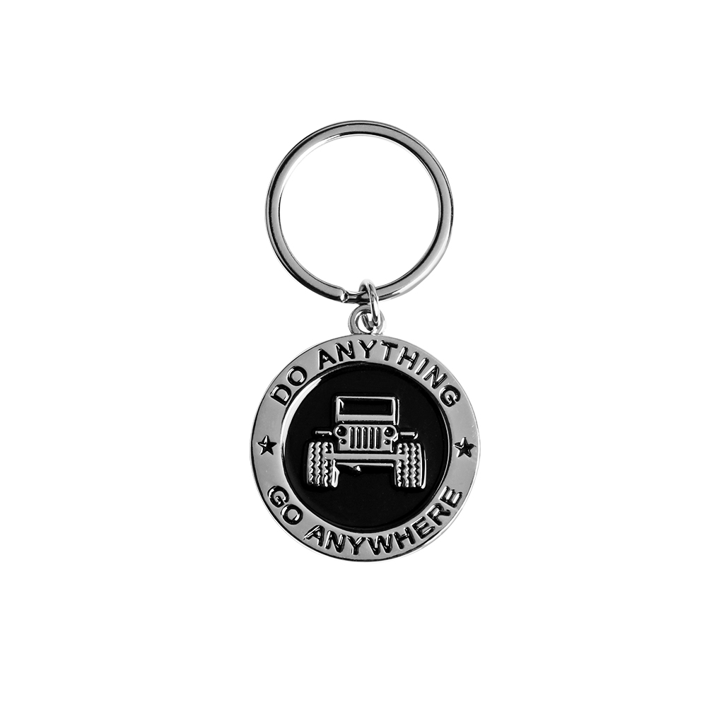 2018 New arrival Car Key Chain Stainless Steel Grill KeyChain Key RingDo Anything Go Any ...
