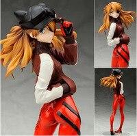 Projeto de animação Evangelion Asuka Cattie Cap Sportswear Action Figure Toy Modelo