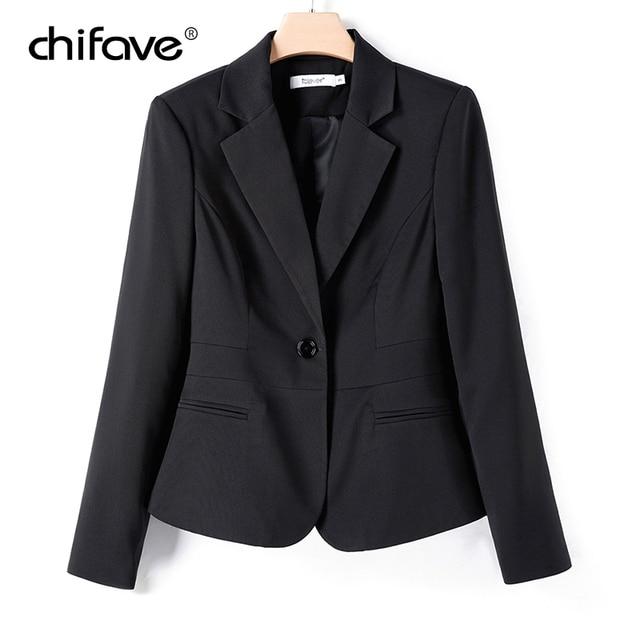 chifave Blazer feminino 2018 Autumn Winter Elegant Women's Short Jacket Plus Sizes Office Style Slim Wine&Black Blazer Jackets 3