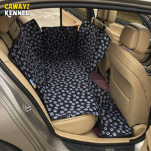 CANDY KENNEL Footprint Dog Carriers Resistente al agua Atrás Espalda Pet Dog Car Seat Cover Mats Hamaca Protector Con Cinturón de seguridad D1010