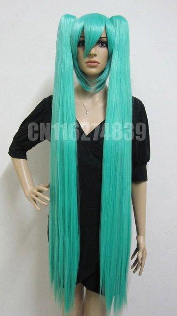 Vocaloid Hatsune MIKU Cosplay Wig +2 X Ponytails 120cm Green