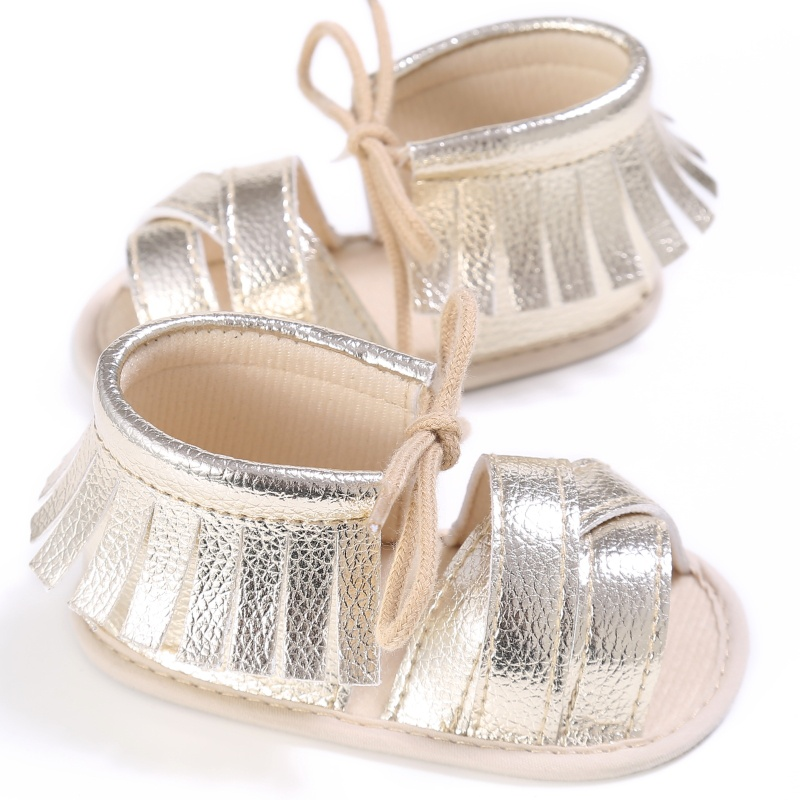 New 0-18M Summer Baby Girls First Walkers PU Fashion Breathable Hollow Out Anti-slip Newborn Cack Shoes P1