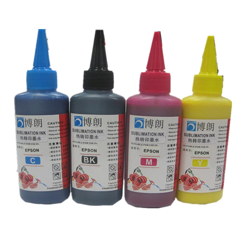 400ML Universal PIGMENT Refill Ink kit for EPSON all printer PIGMENT ink 4 color for epson Pigment ink thank each bottle 100ml sexy plunging neck 3 4 sleeve hollow out tassels embellished cover up for women