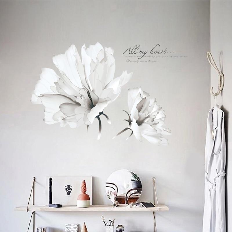 Room, Living, Wallpaper, Vinyl, Decor, Flower