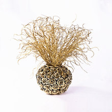 7pcs/lot Artificial plant Golden silver glitter simulation grass flower wedding Christmas home decoration