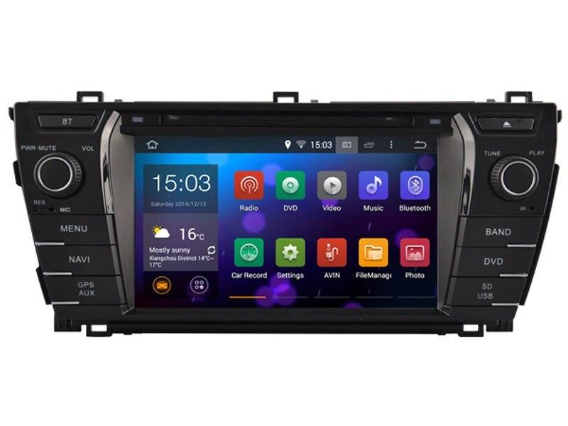 8 inch Android 7.1 6.0 5.1 Car DVD Car GPS Navigation Headunit Multimedia GPS SAT NAV For Toyota Corolla 2014 2015 2016