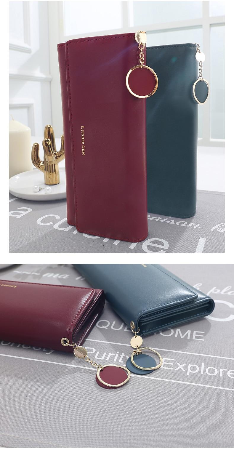 Новая мода женщин кошельки длинные многофункциональный бумажник стиль кошелек свежий искусственная кожа женский клатч визитница