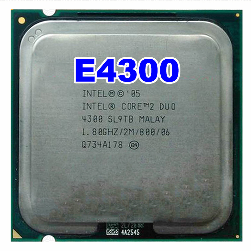 Original INTEL CORE E4300 4300 Dual-core CPU Processor (1.8Ghz/ 2M /800MHz) Socket LGA 775 SL9TB