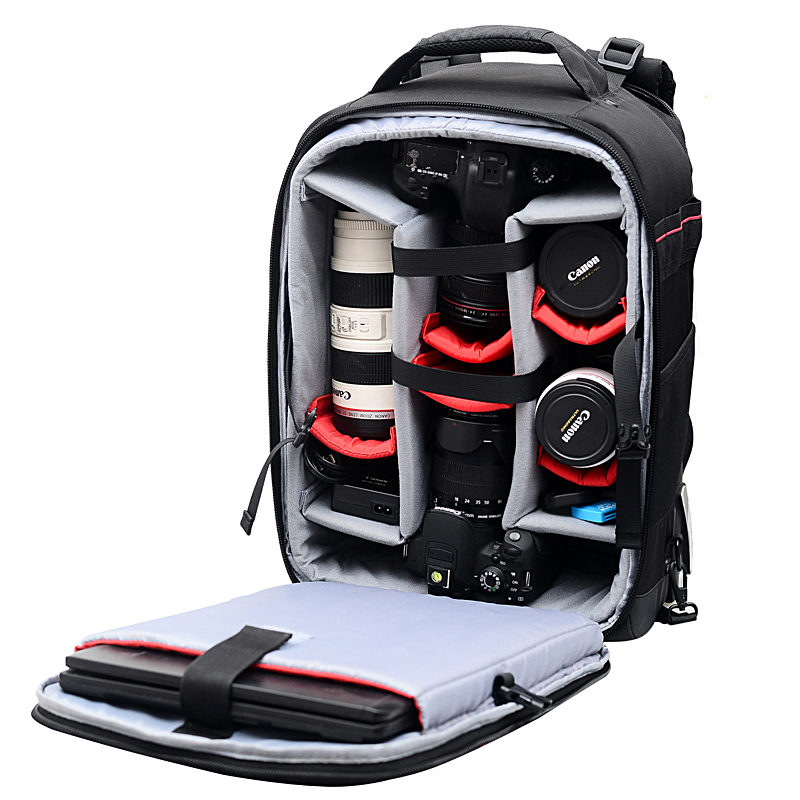 Draw-bar box Professional Large-Capacity Camera Bag Multi-functional Photography Bag Backpack