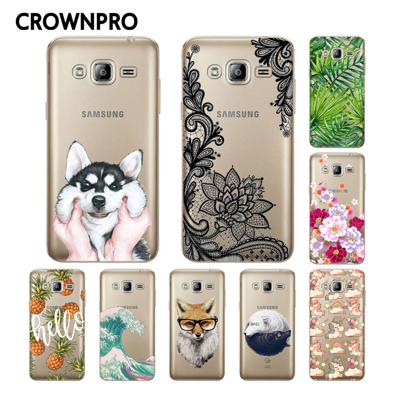 Galleria fotografica CROWNPRO FOR Coque Samsung Galaxy J3 2016 Case Cover J320 J320F Soft Silicone Back Protective FOR Funda Samsung J3 2016 Case