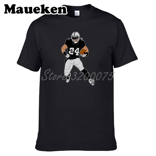 dd453e1ac Men Marshawn Lynch 24 Beast Mode with new team Oakland T-shirt Clothes T  Shirt Men s tshirt for fans gift tee W17100816