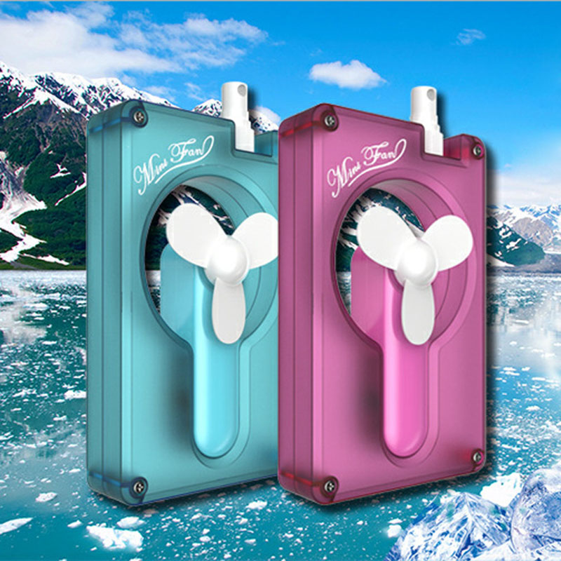 USB charging New Two In One Water Bottle Spray Fan Handheld Mini Fan  Can Be Detached Use Home Office dormitory outdoor spe pem usb charging h4high rich hydrogen water bottle lonizer w selfcleaning function electrolytic distilled mineral pure wate