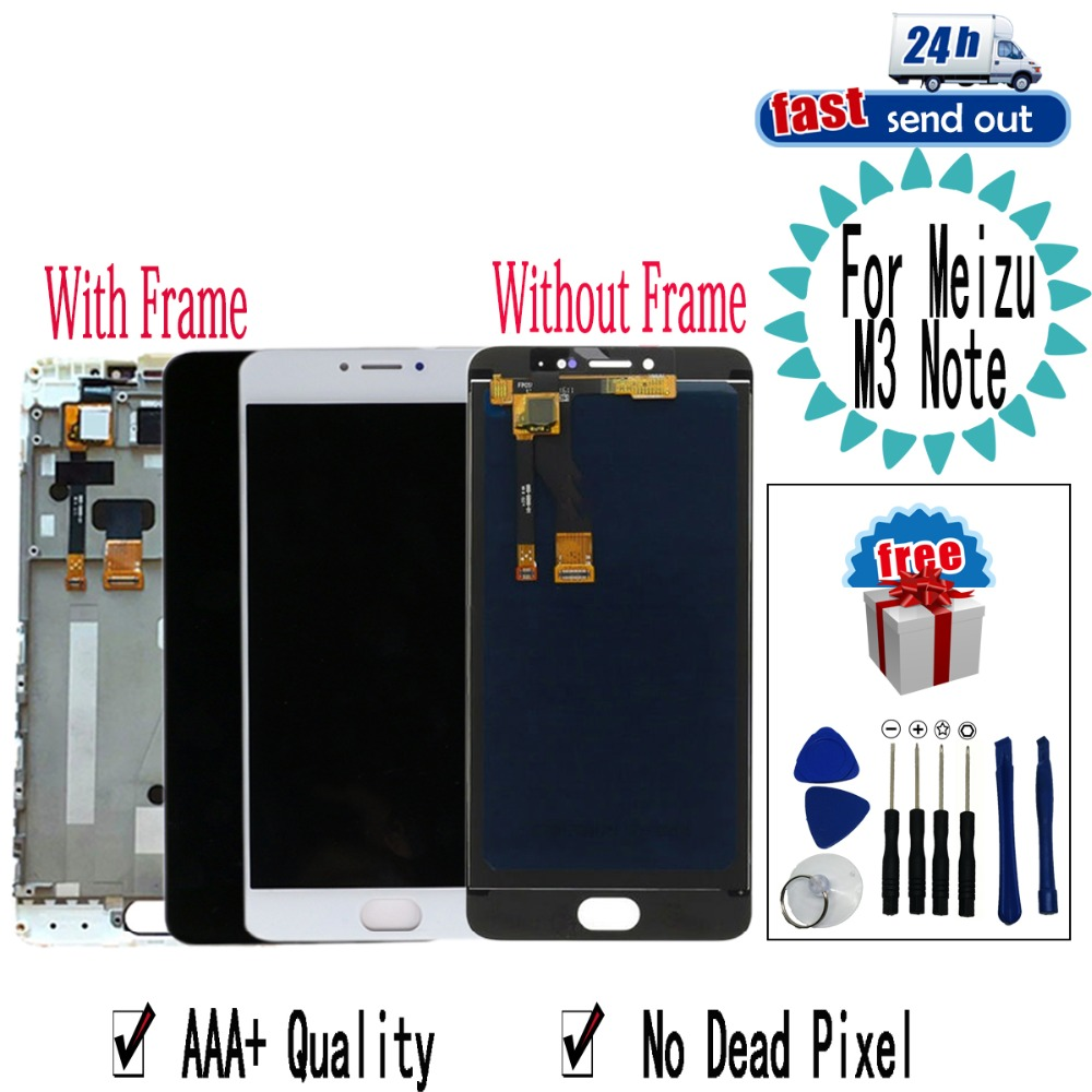 5 5 L681H M681H LCD For MEIZU M3 Note LCD Display Touch Screen Digitizer Assembly Replacement