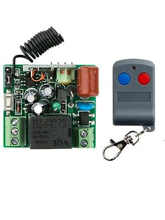 Últimas AC220V 10A 1CH RF Sistema de Interruptor de Control Remoto Transmisor 1X