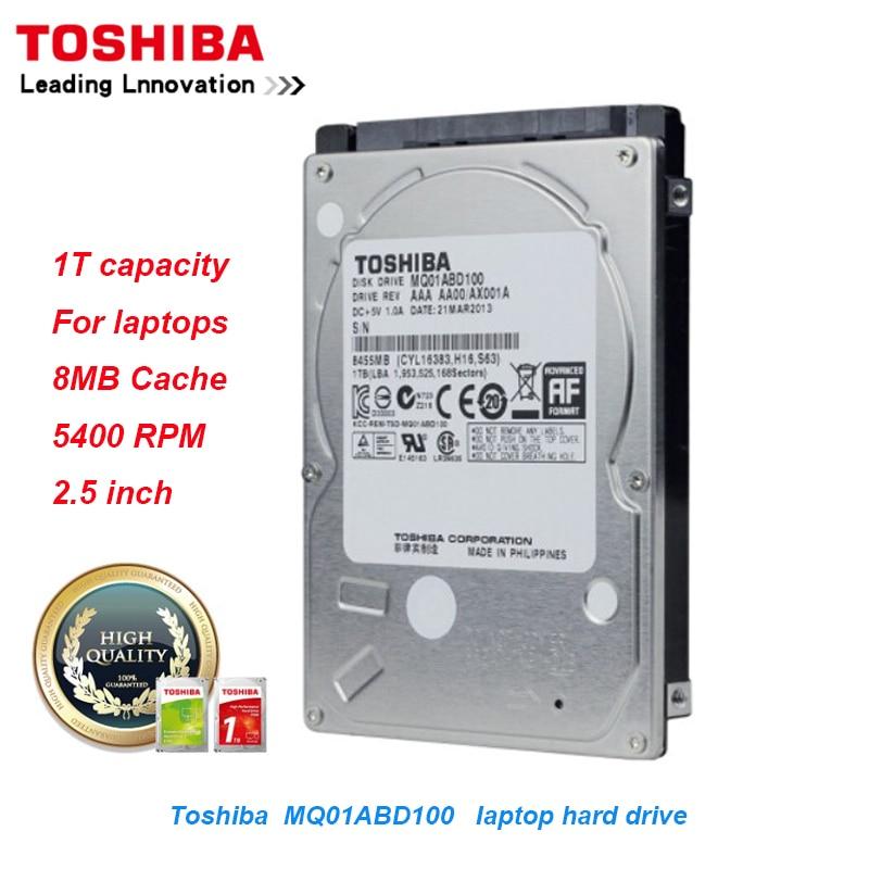 Disque dur d'origine Toshiba 1 to pour ordinateur portable MQ01ABD100 SATA/300 5400 tr/min 8 mo Cache 2.5