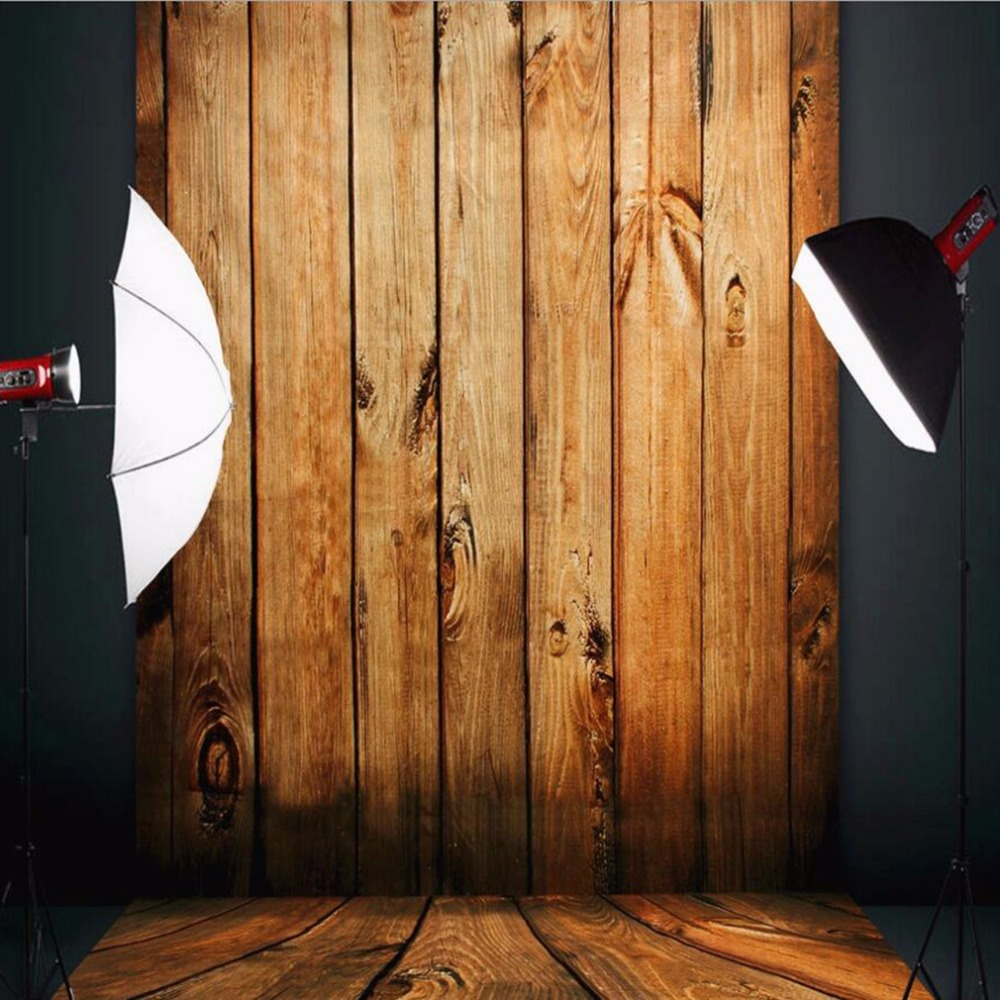 1*1.5M/1.5*2.1M Wood Color Floor Wall Photography Background Cloth Photo Studio Photography Backdrops Accessory