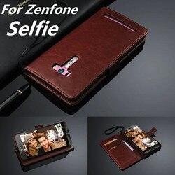 Capa Zenfone cas titulaire de couverture Pour ASUS Zenfone Selfie Selfie ZD551KL en cuir téléphone cas portefeuille flip Étui de couverture de