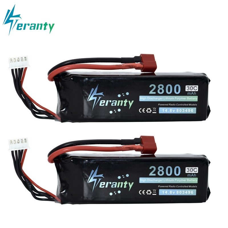 2800mah 14.8V BATTERY RC 4s Lipo Battery 14.8V 30C 803496-4s For FT010 FT011 RC Boat RC Helicopter Airplanes Car Quadcopter 2pcs