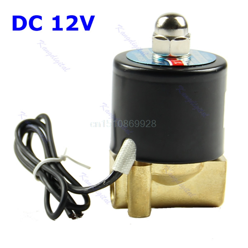 1pc New Brass 12V DC 1/4 Electric Solenoid Valve Water Air Fuels Gas Normal Closed телефон мобильный alcatel onetouch 2008g