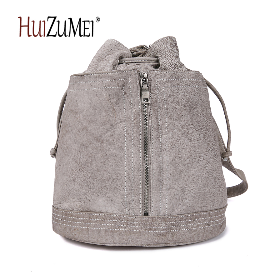 HUIZUMEI new retro school bag travel bag leather backpack  japan and korean women zipper fashion bag new black leather fashion korean women backpack male school bag young people travel bag