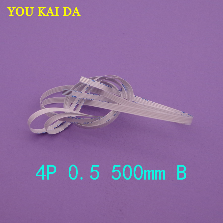 2-100pcs/lot New FFC FPC flat flexible 4pin cable 0.5mm pitch 4 pin reverse Length 500mm Width 2.5mm 4p Ribbon Flex Cable 2 pcs 125 mm 60 pin 0 5mm pitch ffc cable flat ribbon flat cable same sides 60p for ffc connector ul style 20624
