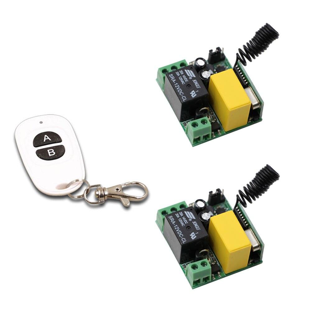 AC 220 V 1CH Télécommande Sans Fil Commutateur Relais Module; 2 PCS Récepteur + Émetteur Télécommandes 433 Mhz/315 Mhz