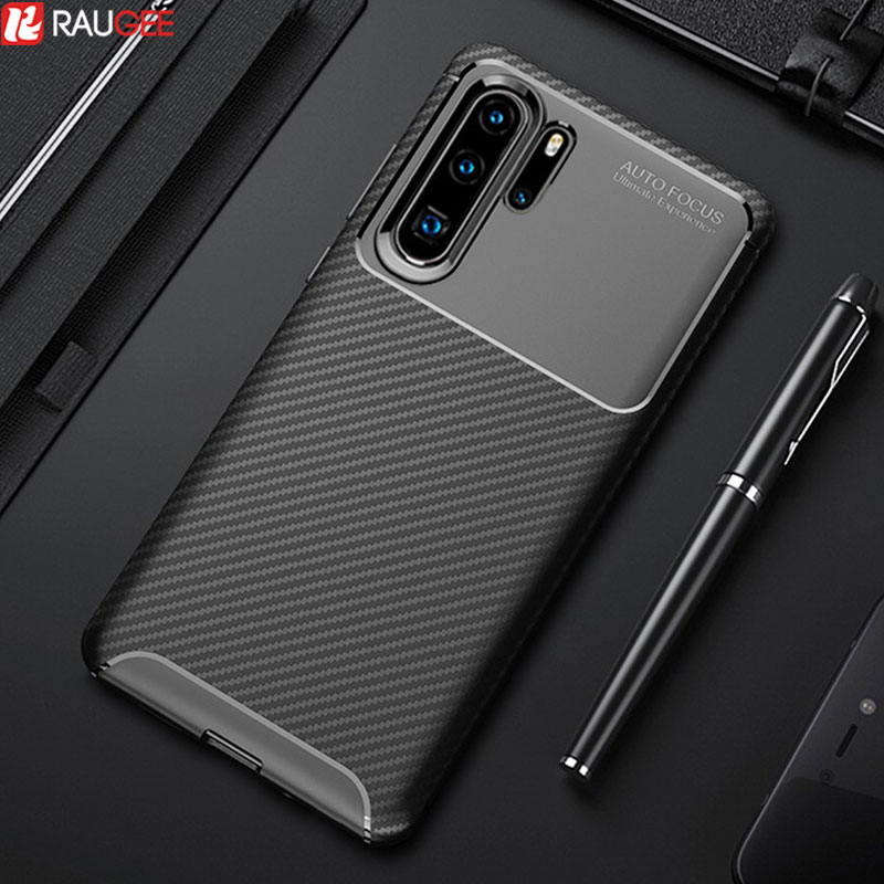 Slim <font><b>Case</b></font> For Huawei <font><b>P30</b></font> Pro <font><b>Case</b></font> Cover Carbon Fiber Silicone Bumper Soft TPU Protector Cover For Huawei <font><b>P30</b></font> Lite <font><b>Phone</b></font> <font><b>Case</b></font> image