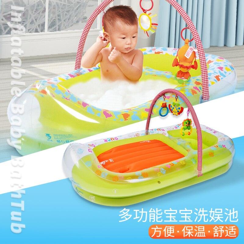 Baignoire gonflable bébé épaississement grande baignoire multi-usages pour enfants baignoire pliable nouveau-né